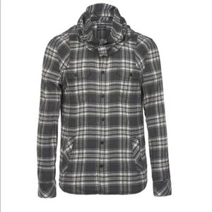 All Saints Gray Plaid Cusack Long Sleeve Shirt XS